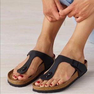 Birkenstock birko floor leather insole sandals NWT